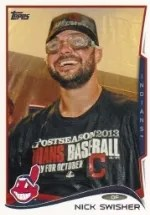 2014 Topps Series 1 Nick Swisher Variation