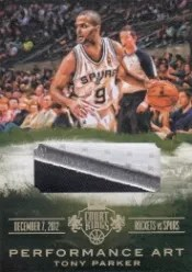 13-14 Panini Court Kings Tony Parker Performance Art Patch
