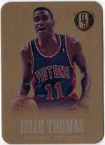 13/14 Panini Gold Standard Isiah Thomas Metal Card