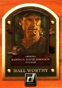 2014 Donruss Hall Worthy Randy Johnson Insert Card