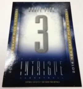 13/14 Panini Intrigue 14/15 NBA Draft X-Change Card