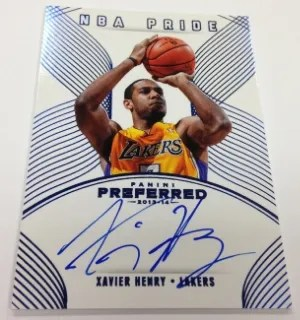 13/14 Panini Preferred NBA Pride Xavier Henry Auto