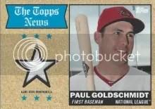 2014 Topps Archives Paul Goldschmidt Relic