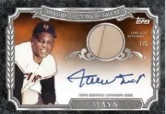 2014 Topps Series 1 Willie Mays Auto Relic
