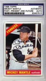 1966 Topps Mickey Mantle Autograph
