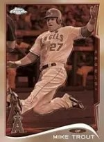 2014 Topps Chrome Mike Trout Sepia