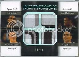 03/04 Exquisite Foursomes Spurs Duncan Robinson Manu Parker