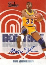 2009/10 Panini Studio Magic Johnson Heritage Autograph