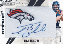 2010 Panini Rookies & Stars Tim Tebow Patch Auto RC