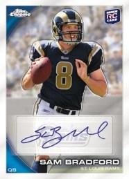 2010 Topps Chrome Football Sam Bradford Auto RC