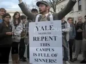 Evangelist Jesse Morrell at Yale University - Open Air Preaching - Open Air Outreach