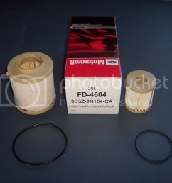 first of i had to get the filters ford part fd 4604 3c3z 9n184 ca contents are in pic  [ 1024 x 768 Pixel ]