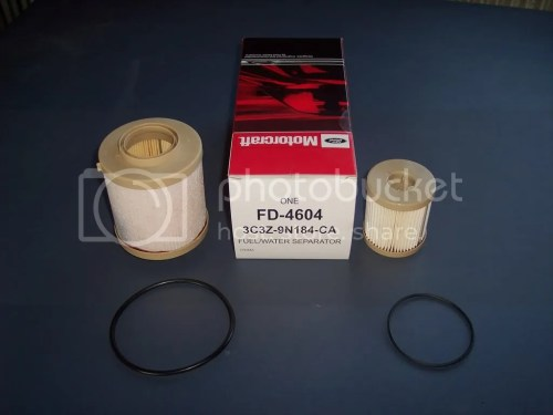small resolution of first of i had to get the filters ford part fd 4604 3c3z 9n184 ca contents are in pic