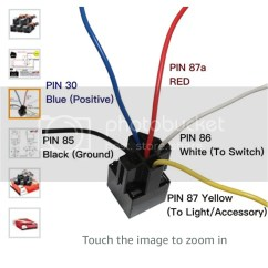 12v 30 Amp Relay Wiring Diagram Wb One Tonner On A Relay, Can Trigger And Power Same: - Honda Ctx700 Forum