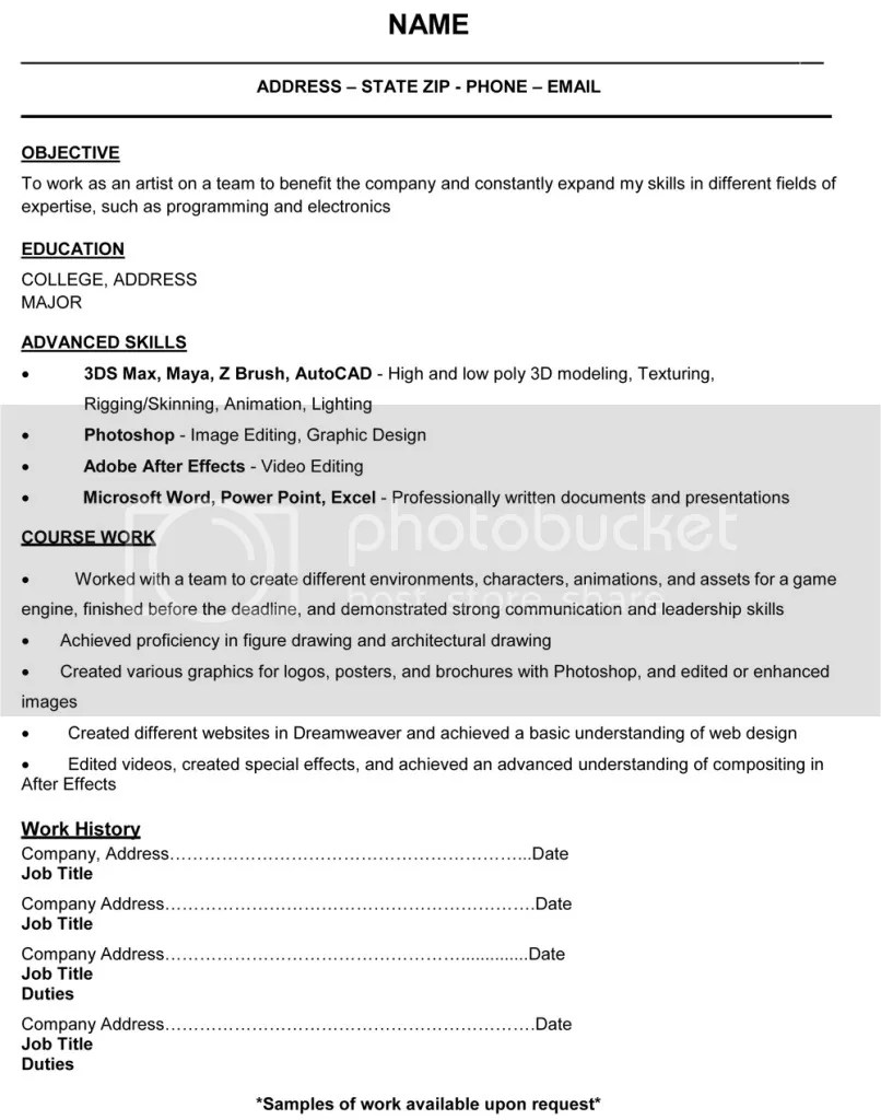 3d Animator Cover Letter 3d Animation Resume Fresher Resume Pattern For Freshers General