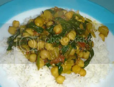 Chickpea and Spinach Curry - VwaV
