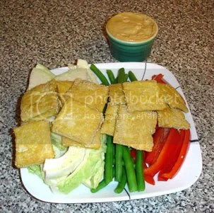 Crisp Tofu with Crudites and Sesame-Ginger Sauce