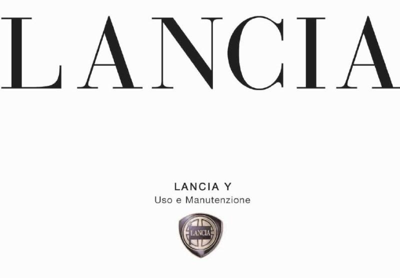 1Manuale uso manutenzione libretto istruzioni LANCIA