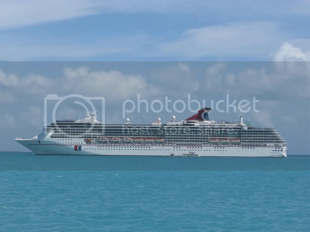 IMG_0834.jpg  Carnival Miracle  at  anchor off the coast of Belize April 2008