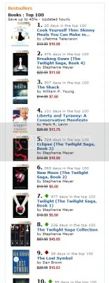 Amazon top 10 sometime this AM