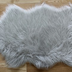 Dark Gray Living Room Rug Country Decorating Ideas For Small Rooms Faux Sheepskin Grey | Roselawnlutheran