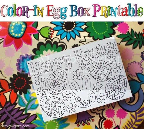 Printable Color In Easter Egg Box