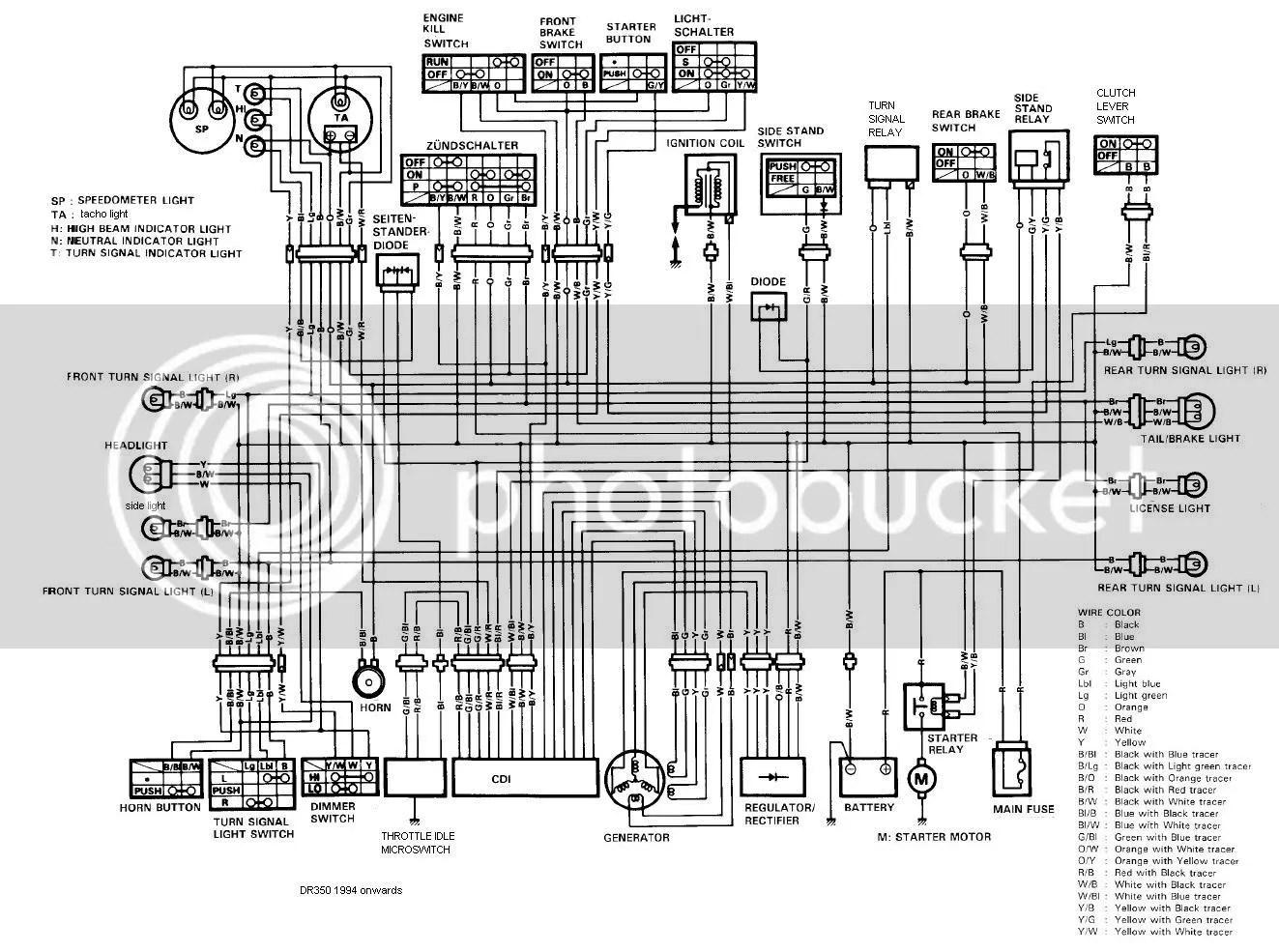 1994 Dr350 Wiring Diagram - Schema Diagram Data on