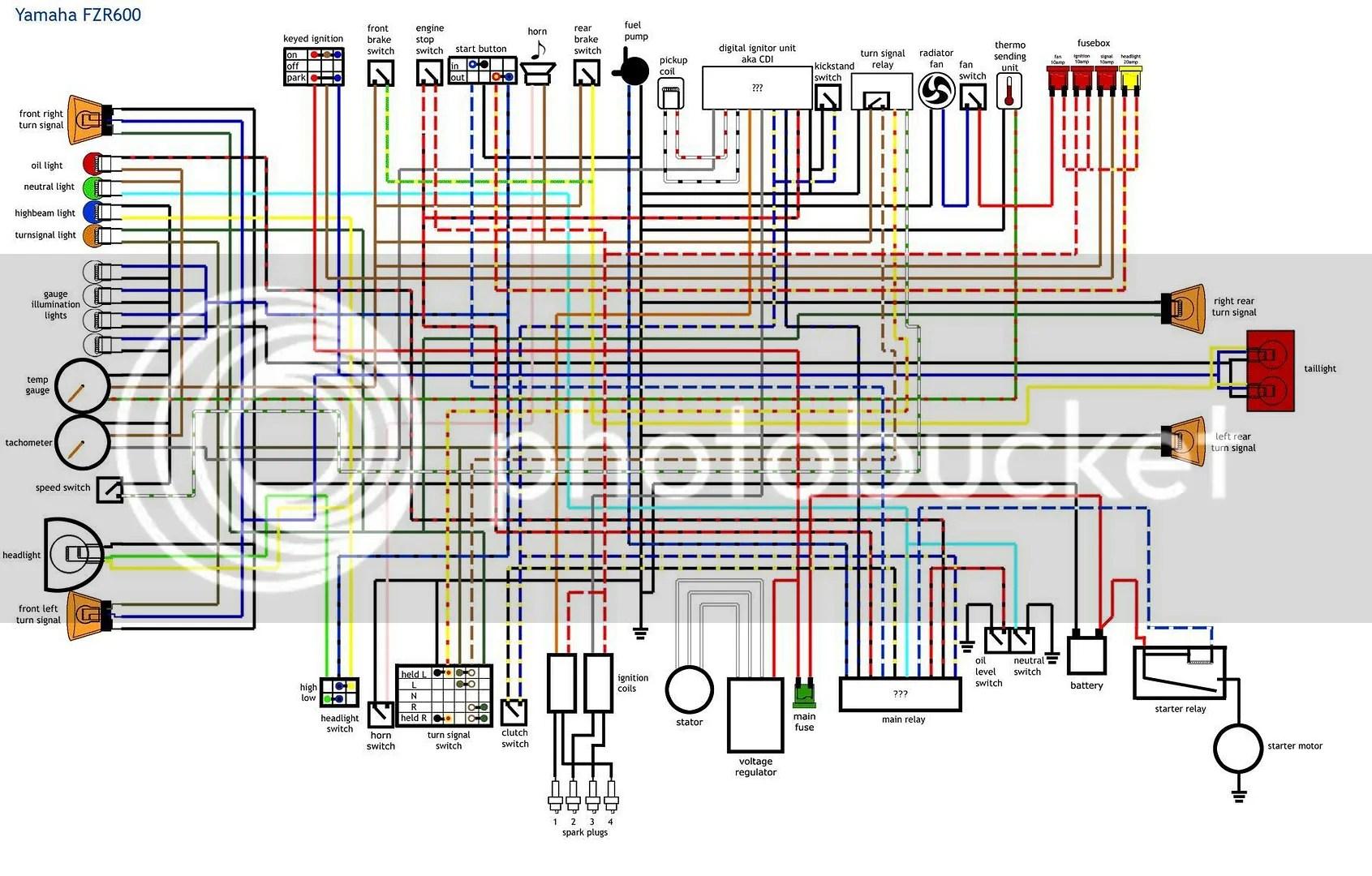 1989 Fzr 1000 Wiring Diagram | Wiring Diagram Yamaha Fzr Wiring Diagram on
