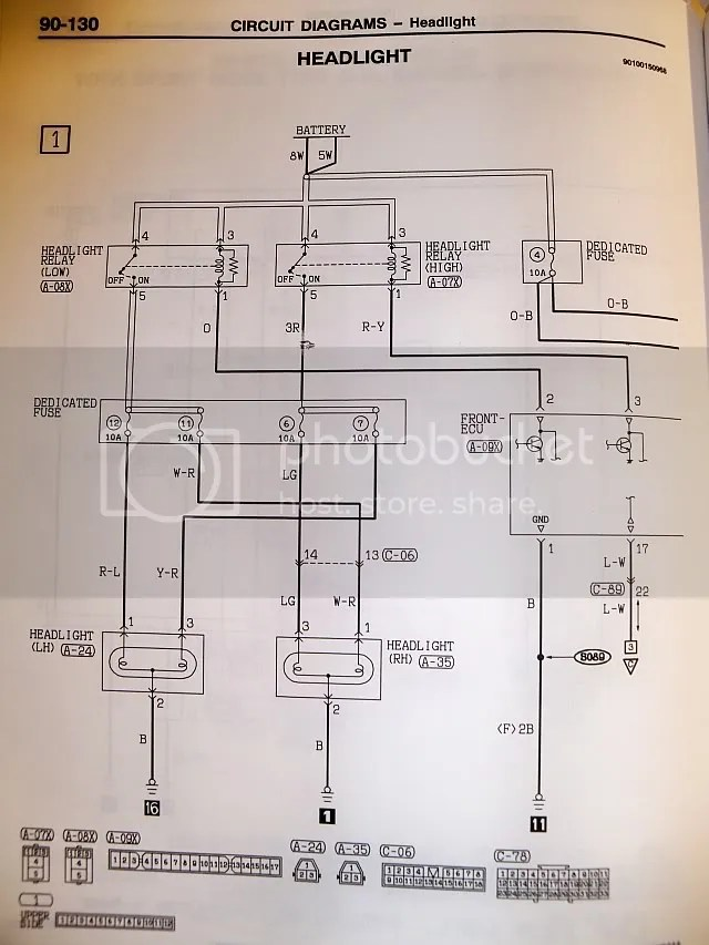 2001 Mitsubishi Eclipse Headlight Wiring Diagram On Headlight Wiring