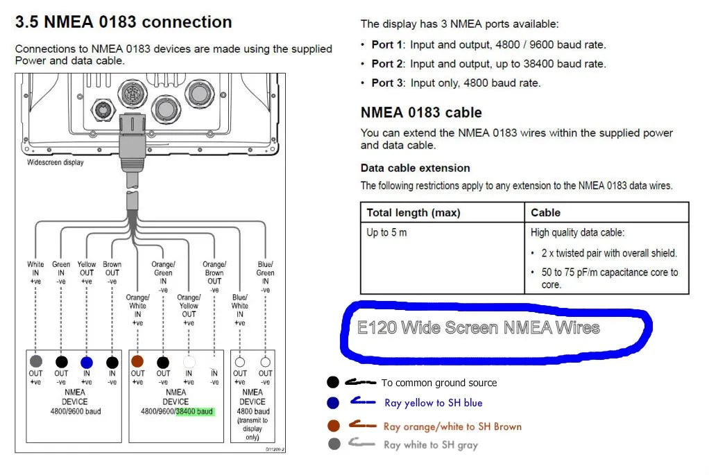 raymarine wiring diagrams outdoor tv antenna diagram need help new vhf to nema 0183 - the hull truth boating and fishing forum