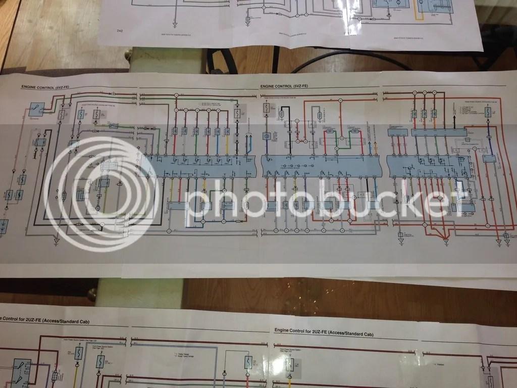 1999 Toyota Tacoma Pre Runner Wiring Diagram Manual Original
