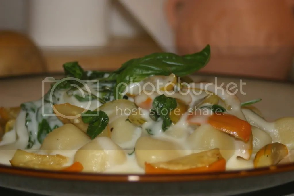 Gnocchi with Eggplant and Arugula