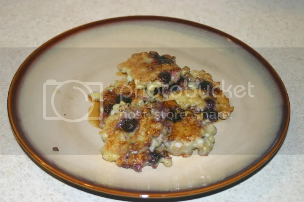 Corn Cakes with Blueberries