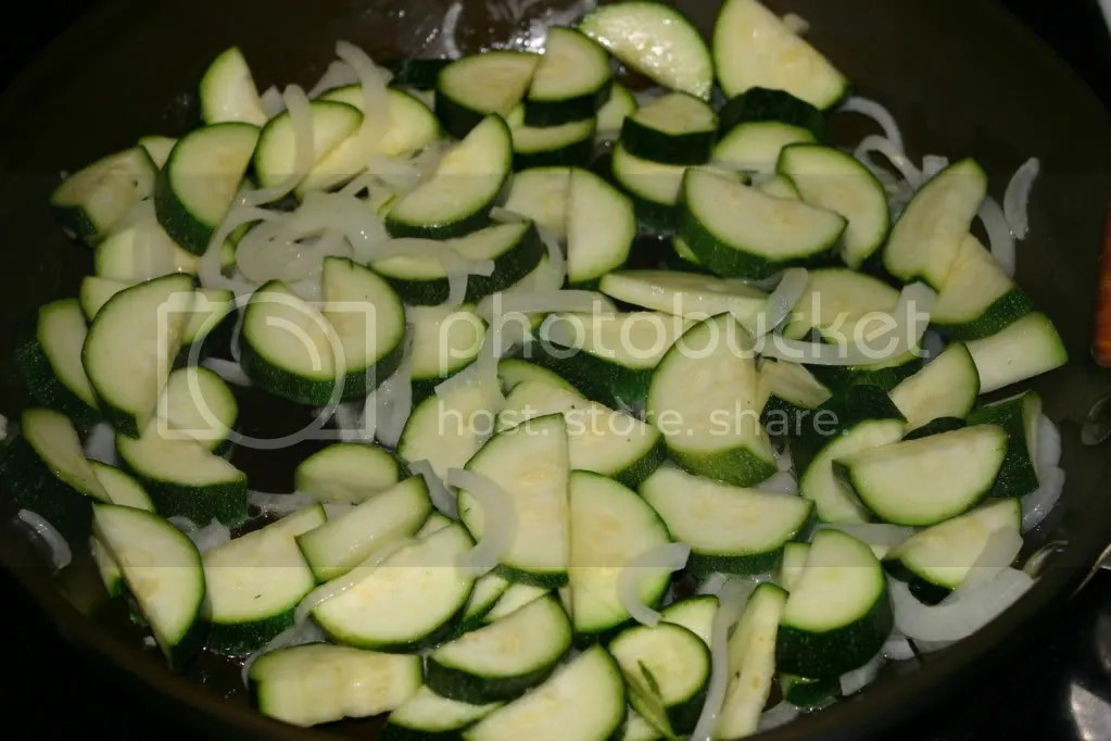 Zucchini and onions, hanging out