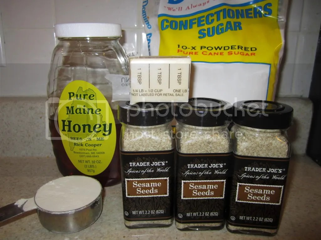 Sesame Honey cookie ingredients