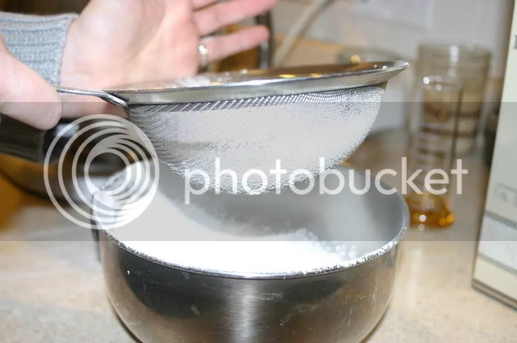 Sifting the sugar
