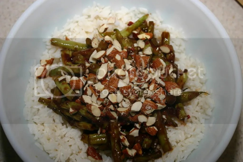 Spicy Green Beans with Tamari Roasted Almonds