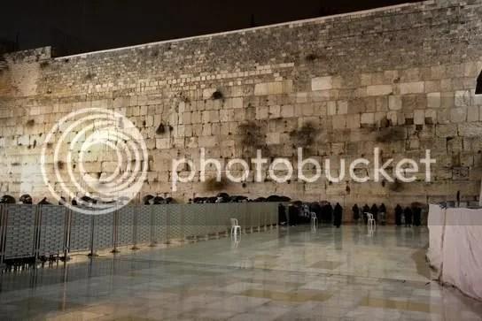 Westmauer nachts