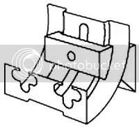 Boston Acoustics CRB Double Keyhole speaker bracket