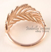 LIGHT AS A FEATHER Authentic PANDORA ROSE GOLD Plated CZ ...