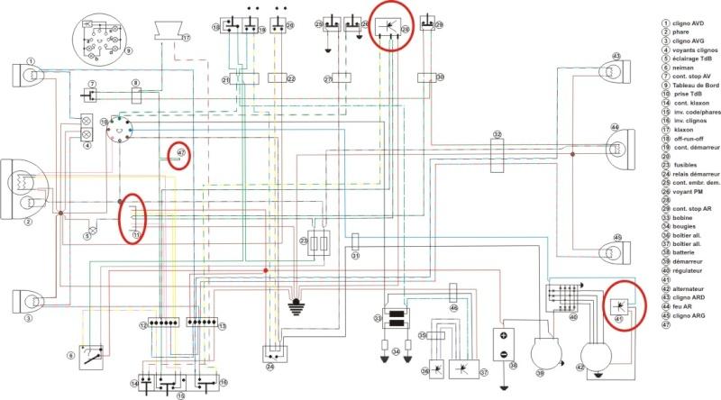 shéma électrique R45 R65 et R80 ST