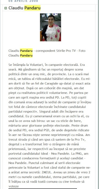 Claudiu Pandaru, un editorialist de mare rafinament