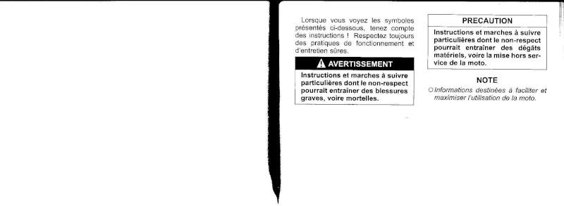 manuel du propriétaire zx6r 2009 / 2010