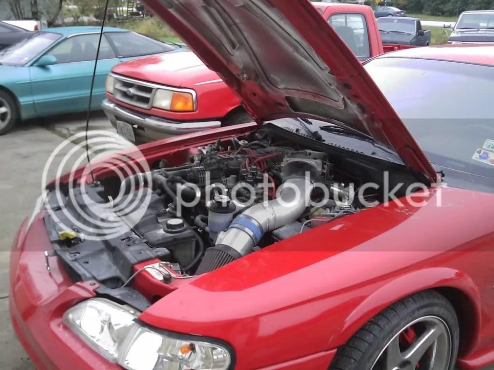 medium resolution of 2007 supercharged 5 4l mustang v8 inside 1997 mustang engine bay