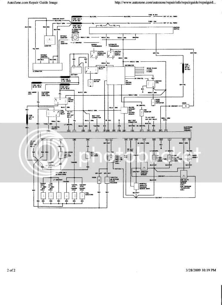 wiring diagram for 86 ford ranger