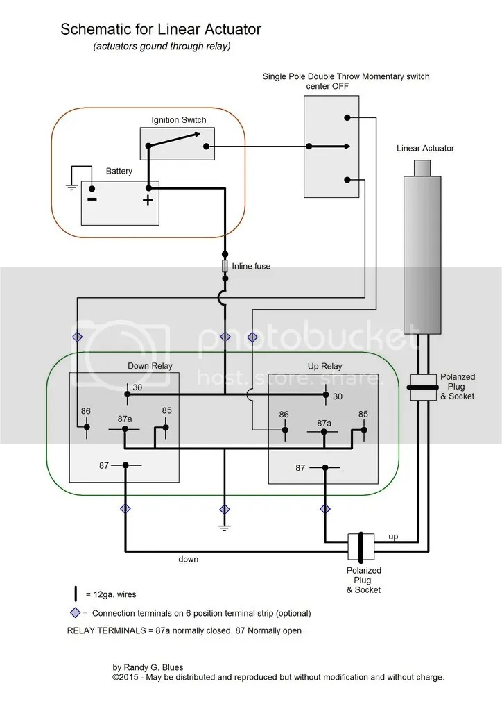 Wiring Diagram For Linear Actuator MyTractorForum Com The