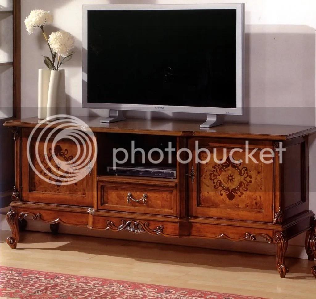 PORTA TV VENEZIANO IN NOCE E RADICA INTARSIATAxSALA 537  eBay