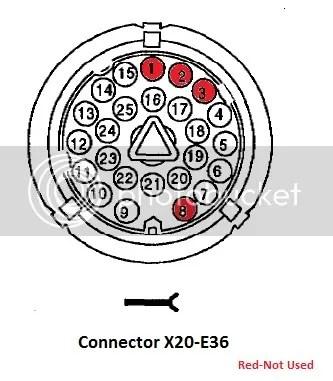 Bmw E36 X20 Stecker
