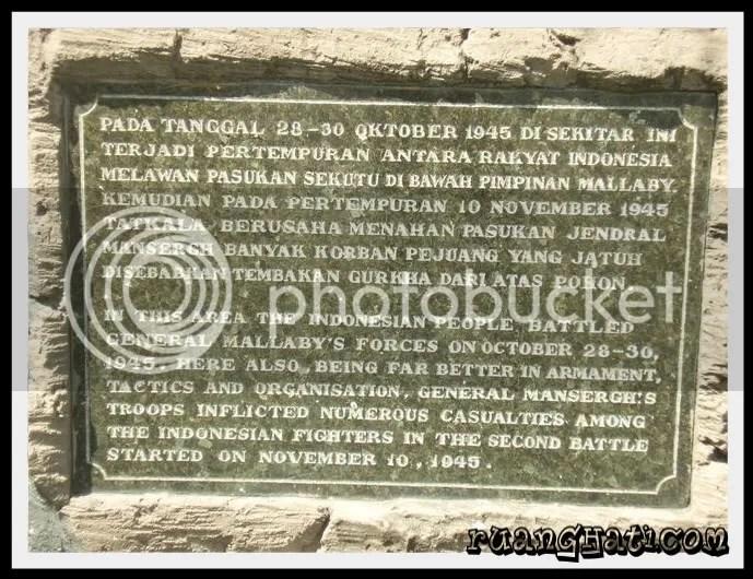 Prasasti pertempuran Arek-arek Suroboyo dan Sekutu