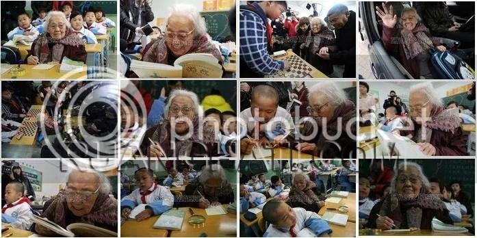 Suasana belajar para siswa bersama nenek Ma yang sudah sangat renta namun bersemangat tinggi